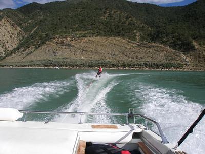 Andrew Skiing, notice nice scenery