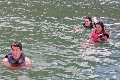 Donald, Tiffany and Norma all take a swim break