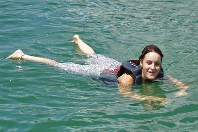 Tiffany swimming