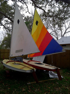 Donald is getting the sailboats ready for the family reunion
