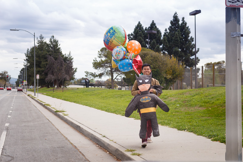 Andrew and The Batman on His Birthday