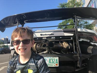 Supercars in Southie. Lamborghini Huracan.