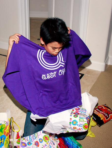 What's this? Is it really Quest Crew? Probably Andrew's favorite birthday gift. Thank you, Auntie Sha!