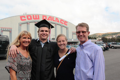 Amy, Andrew, Alex & Mark in front of the Cow Palace