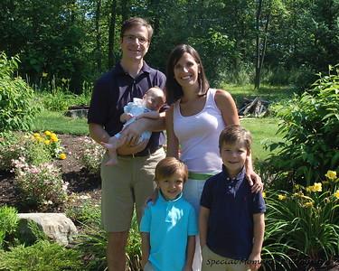 andrews family in the garden