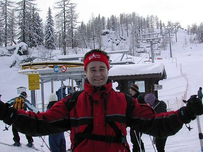 Andy Skiing in Cham