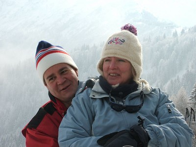 Andy and Elaine at Les Houches - March 2005