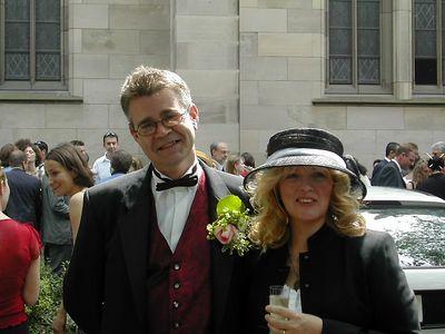 Andy & Elaine at Sarah & Mike's wedding