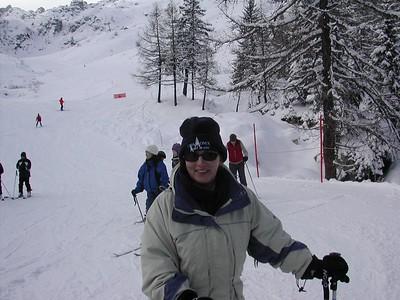 Elaine in Chamonix