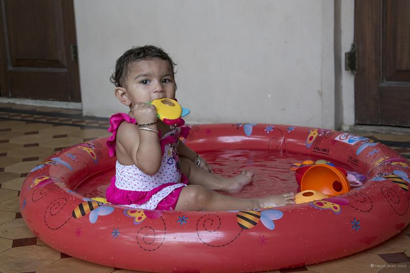 Pool time. 1st Birthday