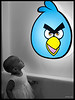 """4th year Pic 347- Apr - 29 2013. <span style=""""color:yellow"""">Why is this bird angry?   </span> -  Anika at Shachi-Nilesh house warming <span style=""""color:cyan"""">Critiques welcome! </span>"""