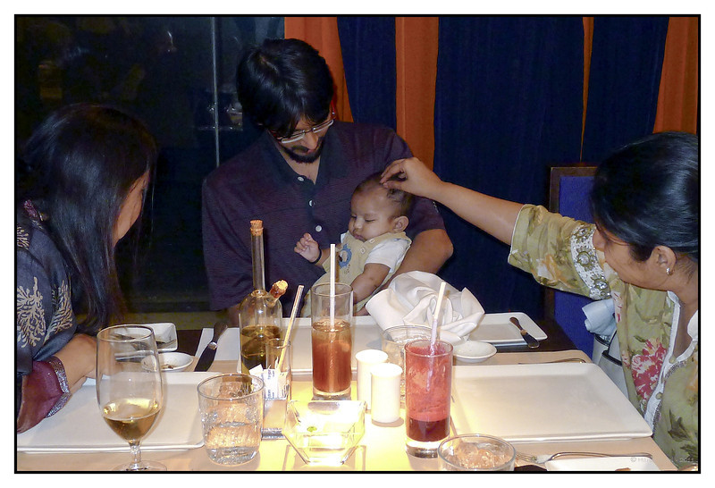 First restaurant visit, Frangipani<br /> 3 months