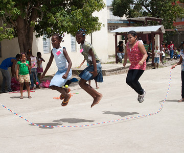 All the kids were really good at jumping rope