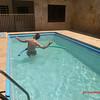 Lu on the pool.