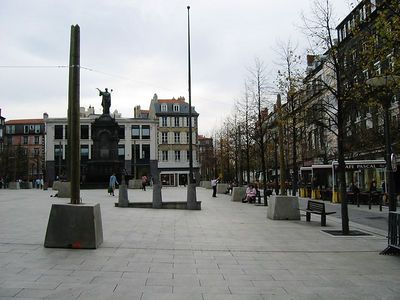 Centre square, downtown Clermont-Ferrand.  5-minutes from apartment.  Square is currently being remodeled.