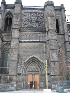 Catholic Church Cathedral at center of Clermont-Ferrand
