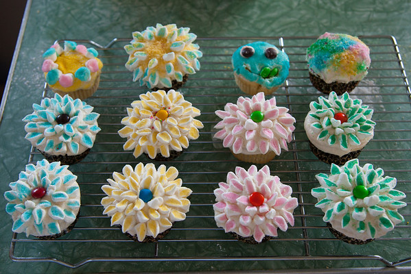 Anna's Flower Cupcakes