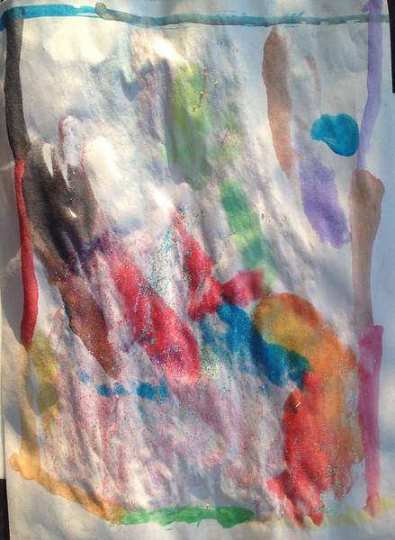 Water color w/glitter glue