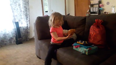 Annabelle opening BD gifts - 3/23/2018