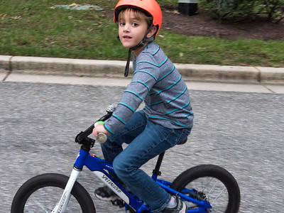 Sammy on his bike.