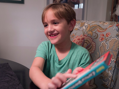 """The younger brother got a """"brother birthday gift."""" A book also."""
