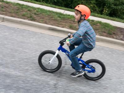 The kid needs a new bike. I'm so glad he's back into biking.