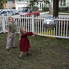 Molly hittin' the piñata!  (Greta, Donovan, Molly)