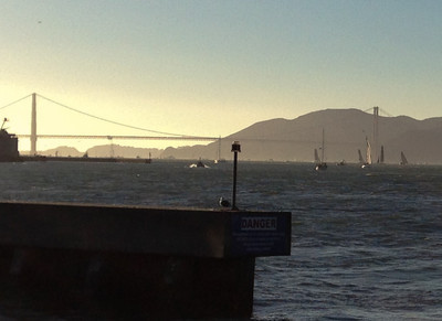 The Golden Gate with America's Cup racing.