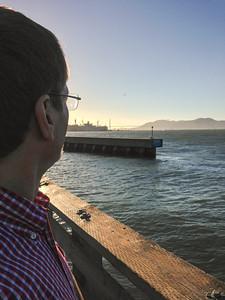 Fisherman's Wharf looking toward the Golden Gate