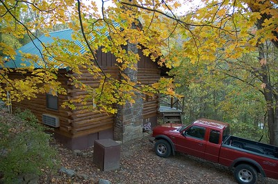 Our cabin in Ponca, AR.  The Buffalo River was just down the road.