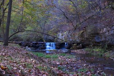 One of the many waterfalls at Dogwood Canyon.