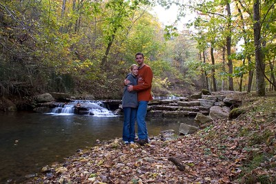 One of the many waterfalls at Dogwood Canyon.  Thanks to the tripod and self timer for this picture.