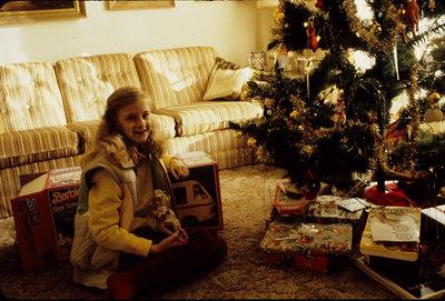 Me with LONG hair, Christmas LONG LONG ago....