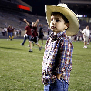 At Kyle Field in College Station after an Aggie game.