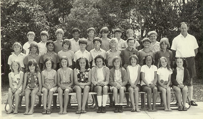 "Makauri School, Gisborne (guess) 1972? (10 years old.) My first ever ""crush"" appears in this photo. (She appears in the previous photo too I have just noticed.)"
