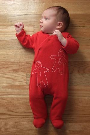 Baby on the floor.