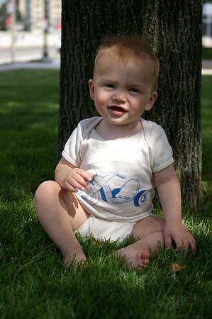 Under a tree @ BU.