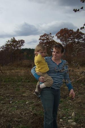 Anya and Christina on the farm.