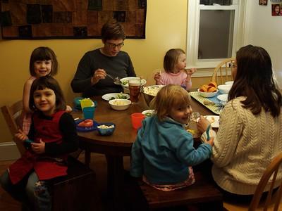 Dinner with Rachel and Lillian.