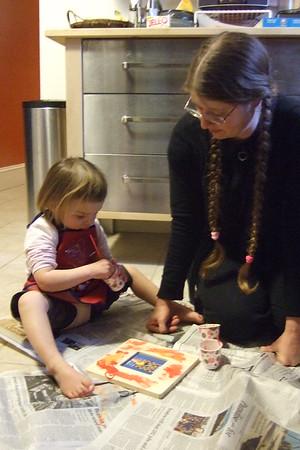 Ariella brings a craft project.