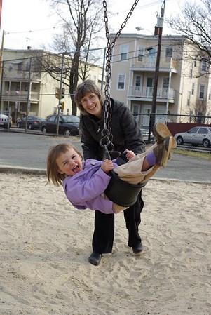 Nana gives Anya a tangle ride.