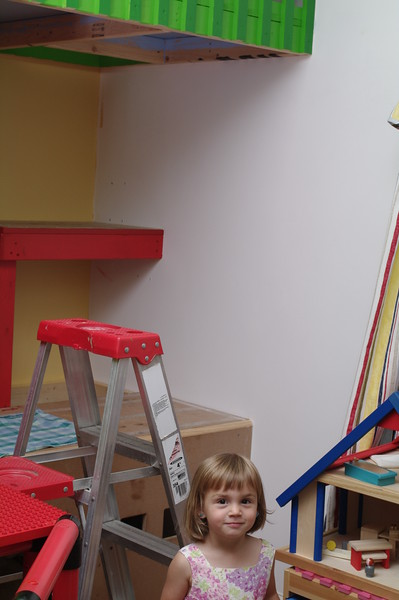 Painting the playhouse — very exciting!