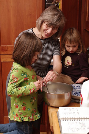 Cooking with Nana.