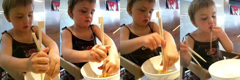 Chopsticks; chopsticks; chopsticks; never mind.