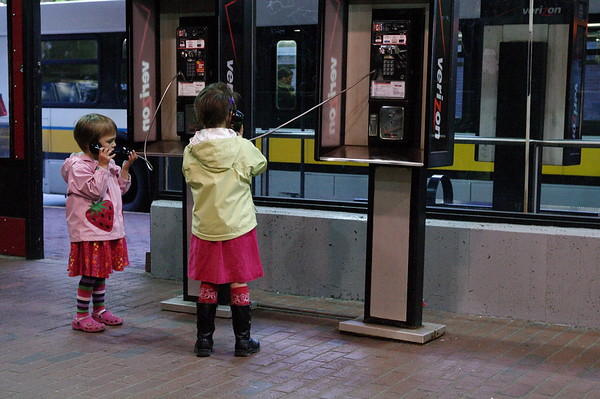Hello? We're at the bus station.