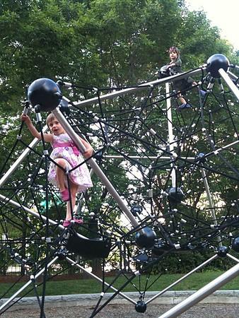 Climbing kids.