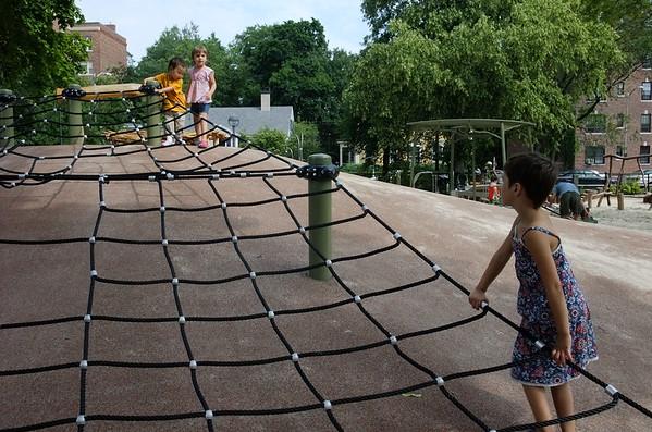 At the playground with Kira.