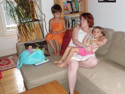 Christina and the girls.