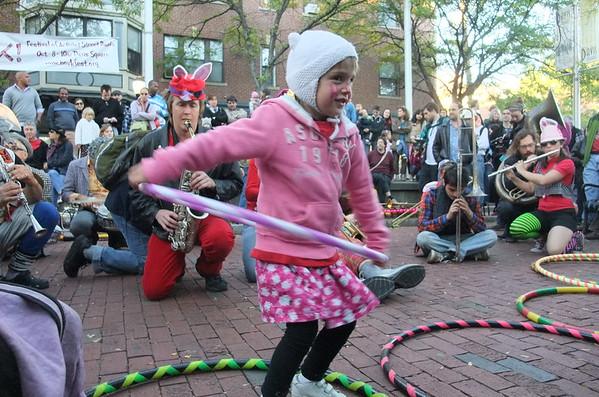 Hula-hooping Anya.