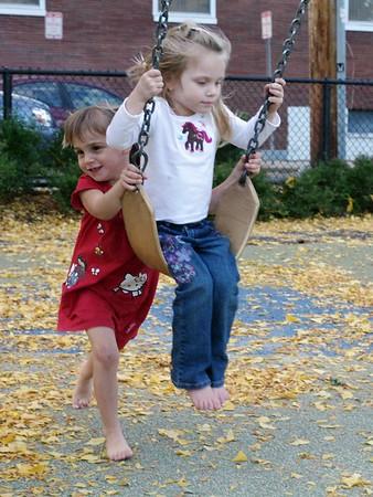 Neighbors at the playground.